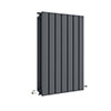 Hudson Reed Sloane 600 x 412mm Horizontal Double Panel Radiator - Anthracite - HLA54D profile small image view 1