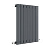 Hudson Reed Sloane 600 x 412mm Horizontal Single Panel Radiator - Anthracite - HLA54 profile small image view 1