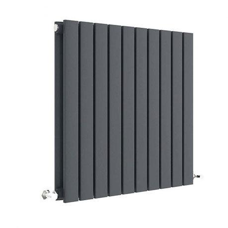 Hudson Reed Sloane 600 x 586mm Horizontal Double Panel Radiator - Anthracite - HLA55D