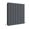 Hudson Reed Sloane 600 x 586mm Horizontal Double Panel Radiator - Anthracite - HLA55D profile small image view 1