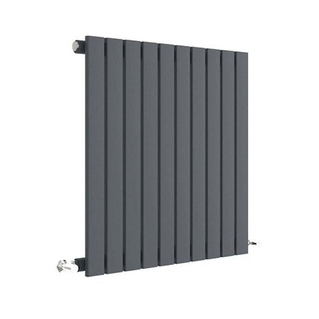 Hudson Reed Sloane 600 x 586mm Horizontal Single Panel Radiator - Anthracite - HLA55