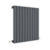 Hudson Reed Sloane 600 x 586mm Horizontal Single Panel Radiator - Anthracite - HLA55 profile small image view 1