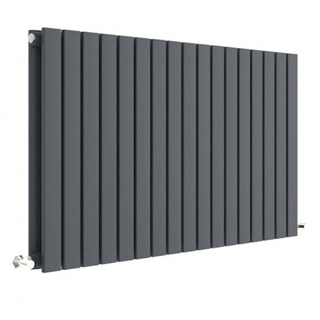 Hudson Reed Sloane 600 x 992mm Horizontal Double Panel Radiator - Anthracite - HLA56D