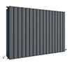 Hudson Reed Sloane 600 x 992mm Horizontal Double Panel Radiator - Anthracite - HLA56D profile small image view 1