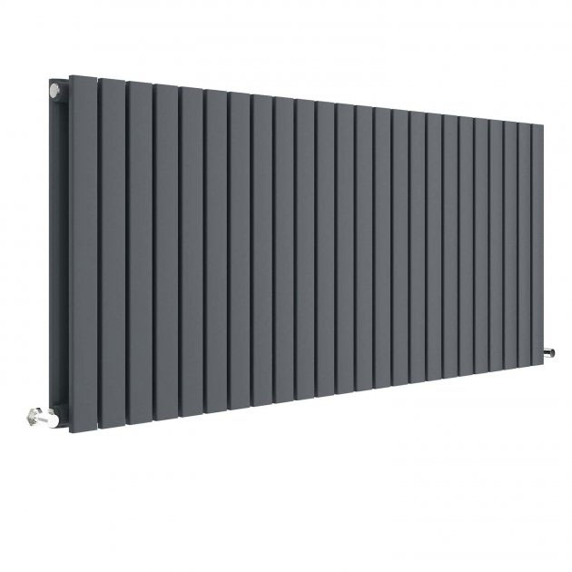 Hudson Reed Sloane 600 x 1398mm Horizontal Double Panel Radiator - Anthracite - HLA59D