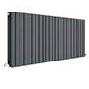 Hudson Reed Sloane 600 x 1398mm Horizontal Double Panel Radiator - Anthracite - HLA59D profile small image view 1