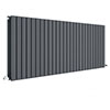 Hudson Reed Sloane 600 x 1572mm Horizontal Double Panel Radiator - Anthracite - HLA60D profile small image view 1