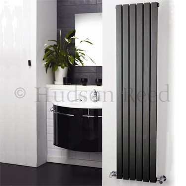 Hudson Reed Sloane Double Panel Designer Radiator 1800 x 354mm - Anthracite - HLA74 profile large image view 2