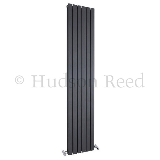 Hudson Reed Sloane Double Panel Designer Radiator 1800 x 354mm - Anthracite - HLA74 Large Image