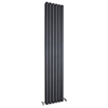 Hudson Reed Sloane Double Panel Designer Radiator 1800 x 354mm - Anthracite - HLA74 profile small image view 1