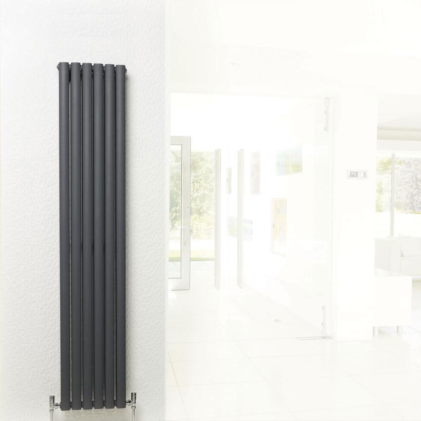 Hudson Reed Revive Double Panel Designer Radiator 1500 x 354mm - Anthracite - HLA76 Feature Large Image