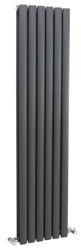 Hudson Reed Revive Double Panel Designer Radiator 1500 x 354mm - Anthracite - HLA76 Large Image