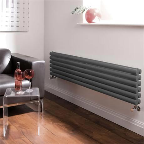 Hudson Reed Revive Horizontal Double Panel Radiator - Anthracite - HLA77-HLA20 | Choosing The Best Radiators To Buy