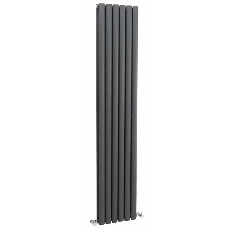 Hudson Reed Revive Double Panel Designer Radiator 1800 x 354mm - Anthracite - HLA77