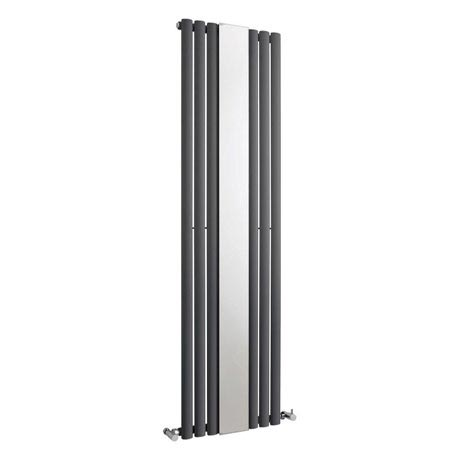 Hudson Reed Revive Single Panel Designer Radiator with Mirror - Anthracite - HLA78