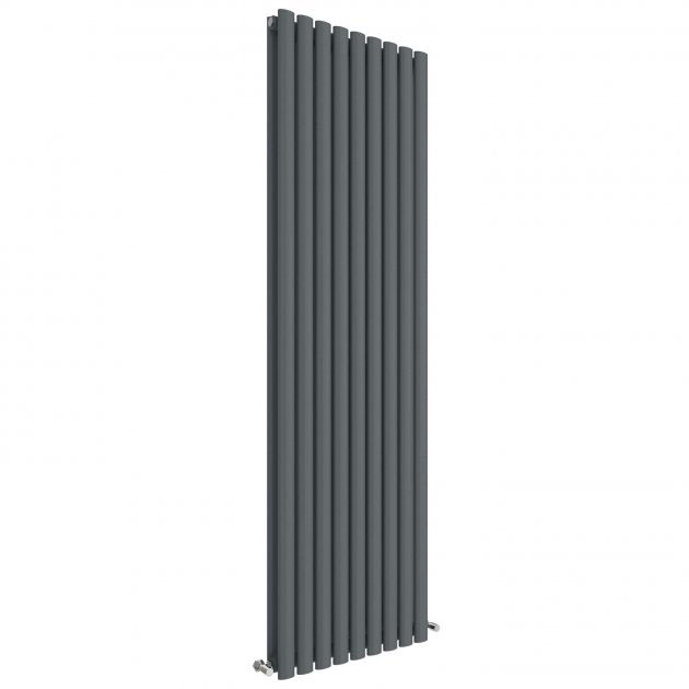 Hudson Reed Revive 1800 x 528mm Vertical Double Panel Radiator - Anthracite - HLA81