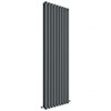 Hudson Reed Revive 1800 x 528mm Vertical Double Panel Radiator - Anthracite - HLA81 profile small image view 1