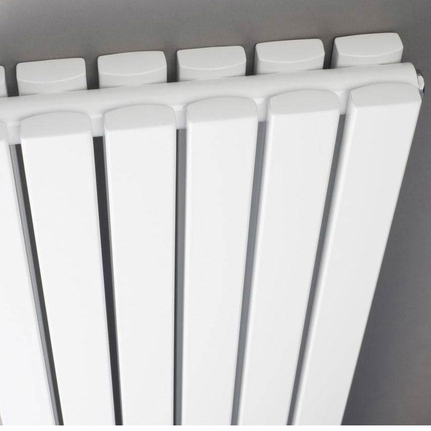 Hudson Reed Sloane Double Panel Designer Radiator 1800 x 354mm - White - HLW44 Feature Large Image