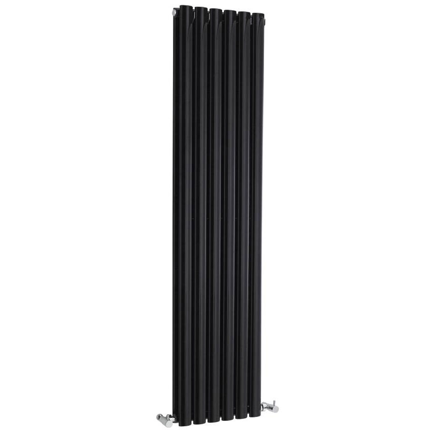 Hudson Reed Revive Double Panel Designer Radiator 1500 x 354mm - High Gloss Black Large Image