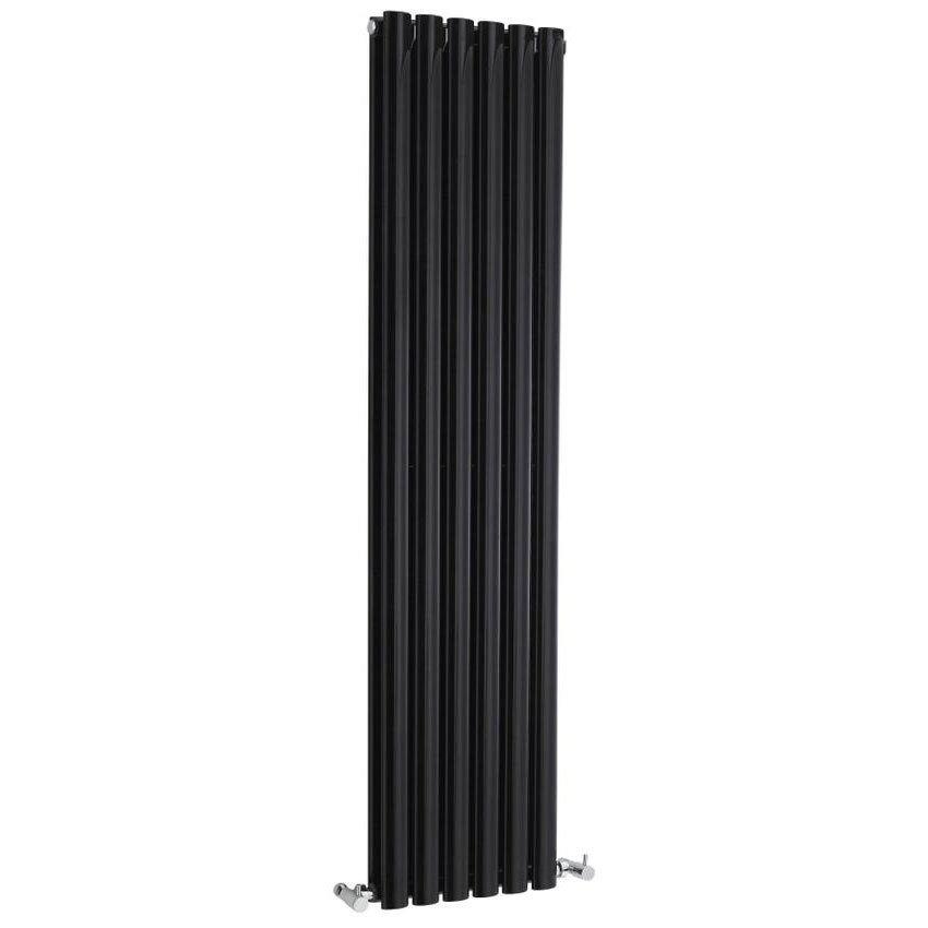 Hudson Reed Revive Double Panel Designer Radiator 1800 x 354mm - High Gloss Black Large Image