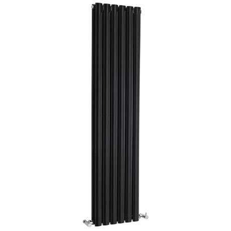 Hudson Reed Revive Double Panel Designer Radiator 1500 x 354mm - High Gloss Black