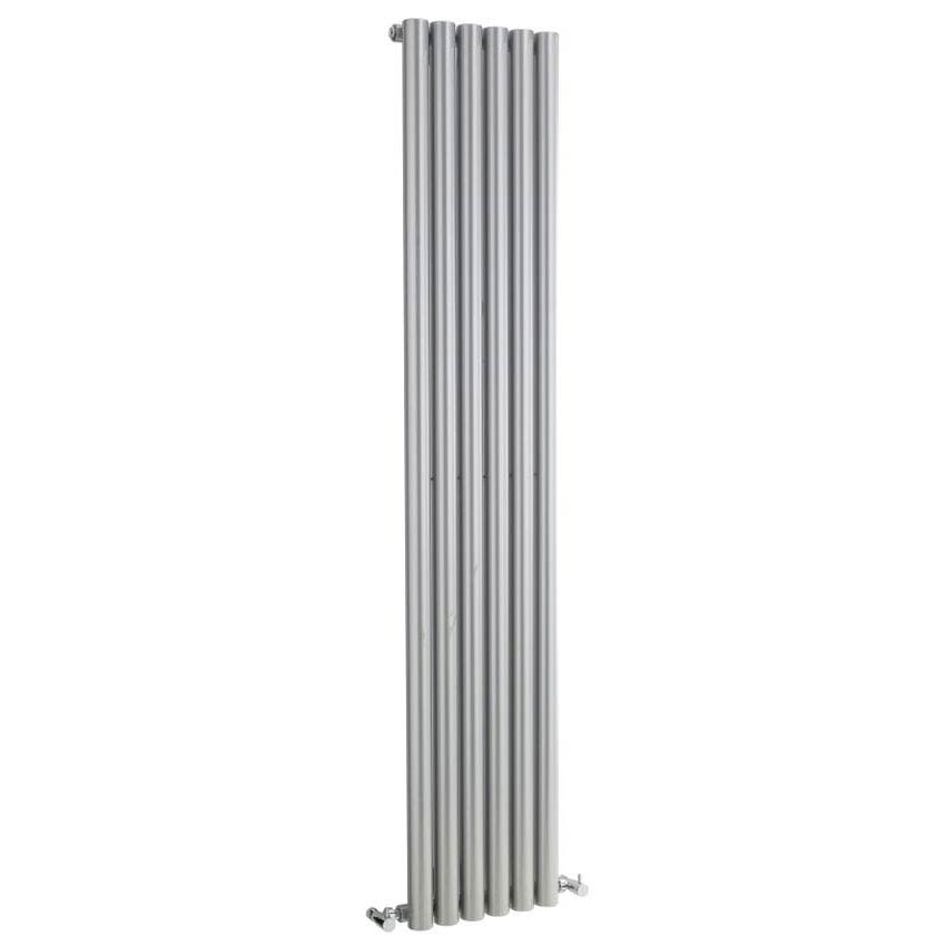 Hudson Reed Savy Single Panel Designer Radiator - High Gloss Silver - HLS53 Large Image