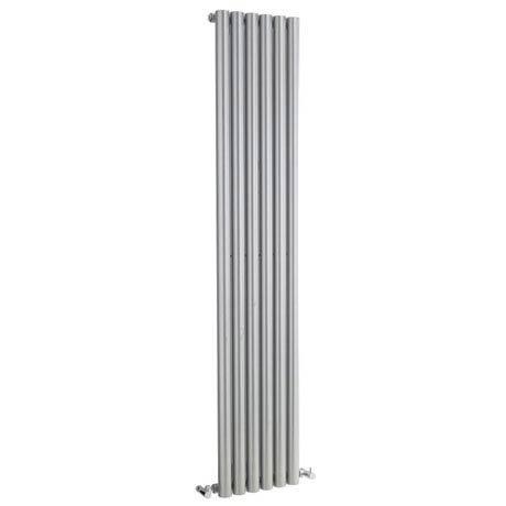 Hudson Reed Savy Single Panel Designer Radiator - High Gloss Silver - HLS53