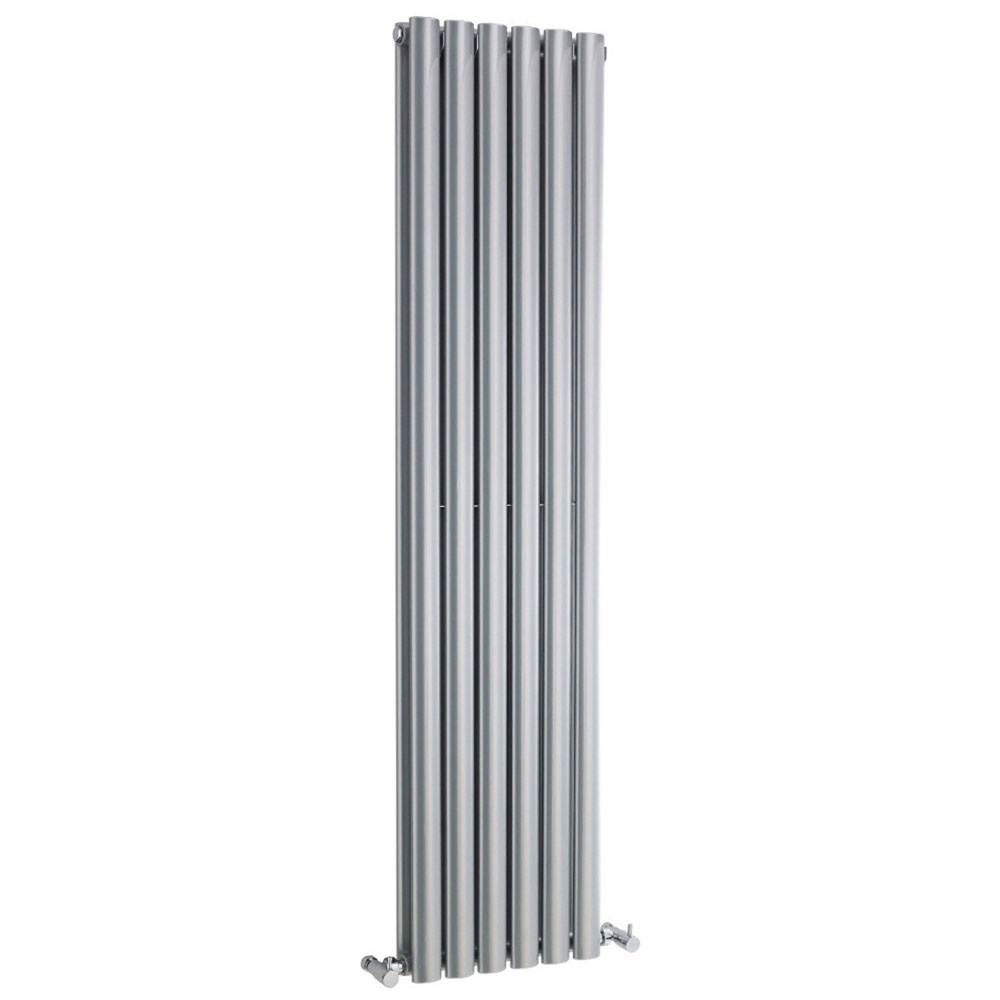 Hudson Reed Revive Double Panel Designer Radiator 1500 x 354mm - High Gloss Silver Large Image