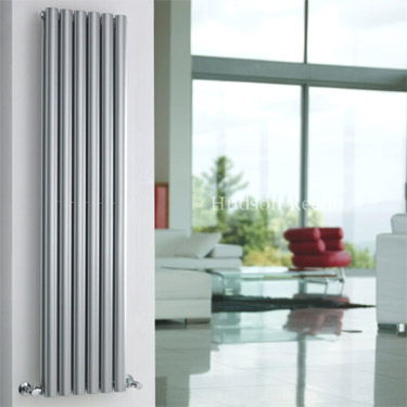 Hudson Reed Revive Double Panel Designer Radiator 1800 x 354mm - High Gloss Silver profile large image view 2