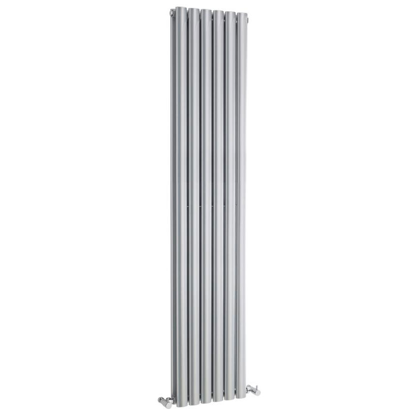 Hudson Reed Revive Double Panel Designer Radiator 1800 x 354mm - High Gloss Silver profile large image view 1