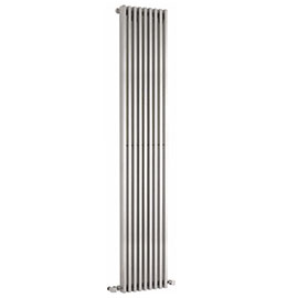 Hudson Reed Parallel 1800 x 342mm Vertical Single Panel Radiator - High Gloss Silver - HLS90