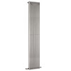 Hudson Reed Parallel 1800 x 342mm Vertical Single Panel Radiator - High Gloss Silver - HLS90 profile small image view 1