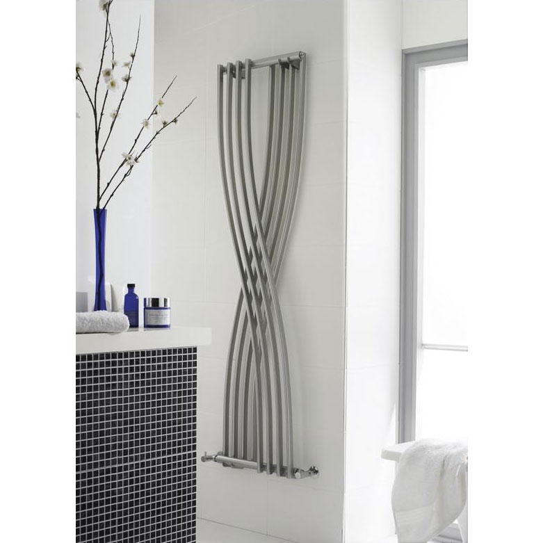 Hudson Reed Xcite Designer Radiator - High Gloss Silver - HLS94 Feature Large Image