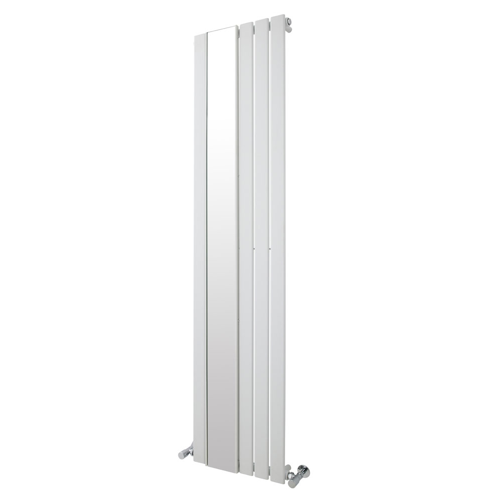 Premier - Seville Flat Panel Radiator with Mirror 1800 x 425mm - White - HLW103 Large Image