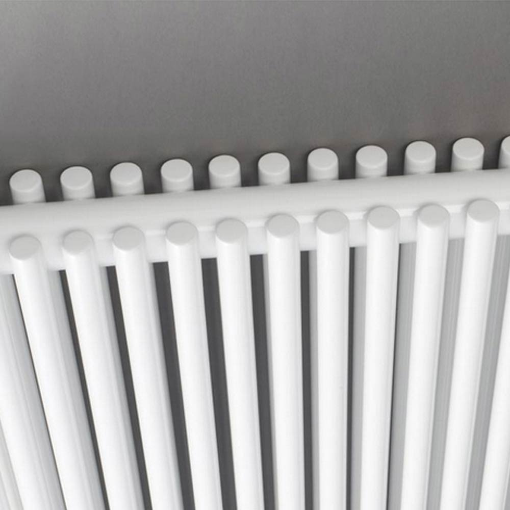 Hudson Reed Refresh Double Panel Horizontal Designer Radiator - White - HLW22 Profile Large Image