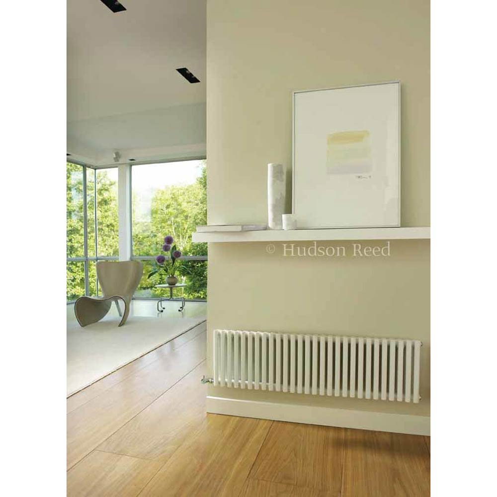 Hudson Reed Refresh Double Panel Horizontal Designer Radiator - White - HLW22 Feature Large Image