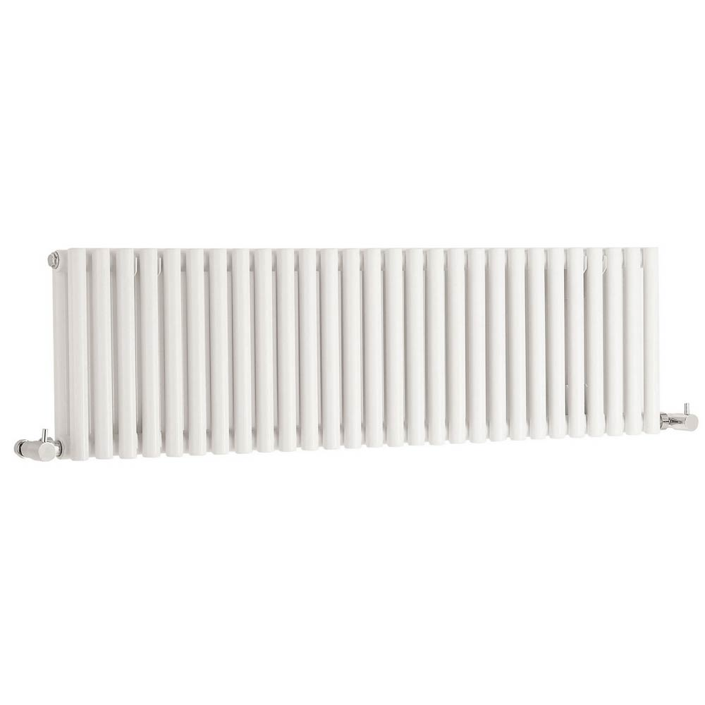 Hudson Reed Refresh Double Panel Horizontal Designer Radiator - White - HLW22 Large Image