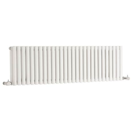 Hudson Reed Refresh Double Panel Horizontal Designer Radiator - White - HLW22