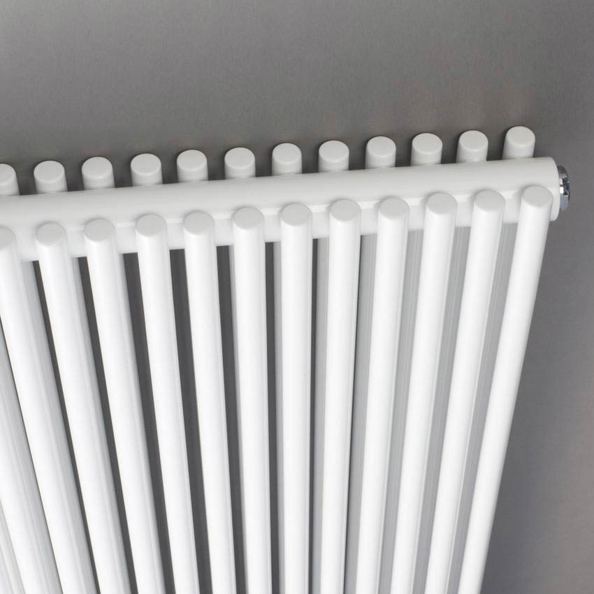 Hudson Reed Refresh Double Panel Vertical Designer Radiator 1500 x 350mm - White - HLW26 profile large image view 2