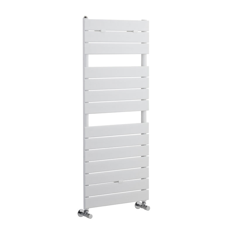 Hudson Reed Flat Panel Designer Radiator 1213 x 500mm - White - HLW35 profile large image view 1