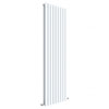 Hudson Reed Sloane 1800 x 528mm Vertical Double Panel Radiator - Satin White - HLW47D profile small image view 1