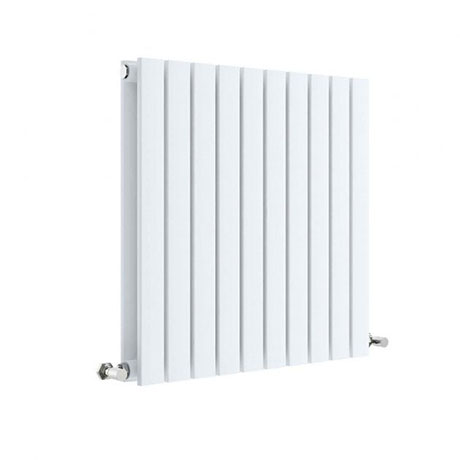 Hudson Reed Sloane 600 x 586mm Horizontal Double Panel Radiator - Satin White - HLW55D