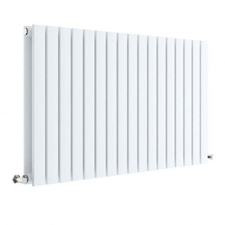 Hudson Reed Sloane 600 x 992mm Horizontal Double Panel Radiator - Satin White - HLW56D