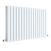 Hudson Reed Sloane 600 x 992mm Horizontal Double Panel Radiator - Satin White - HLW56D profile small image view 1