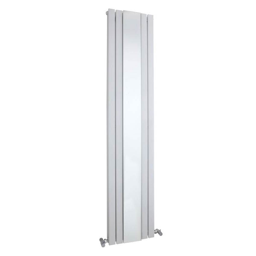 Hudson Reed Sloane Double Panel Radiator with Mirror 1800 x 381mm - White - HLW64 Large Image