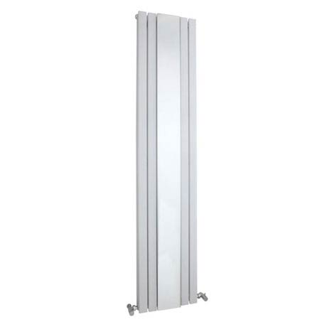 Hudson Reed Sloane Double Panel Radiator with Mirror 1800 x 381mm - White - HLW64
