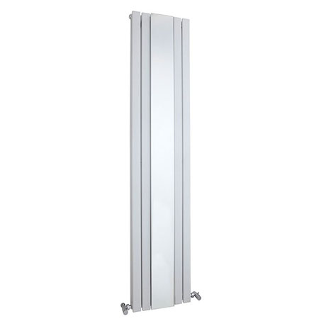 Hudson Reed Sloane 1800 x 381mm Double Panel Radiator with Mirror - Satin White - HLW64