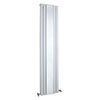 Hudson Reed Sloane 1800 x 381mm Double Panel Radiator with Mirror - Satin White - HLW64 profile small image view 1
