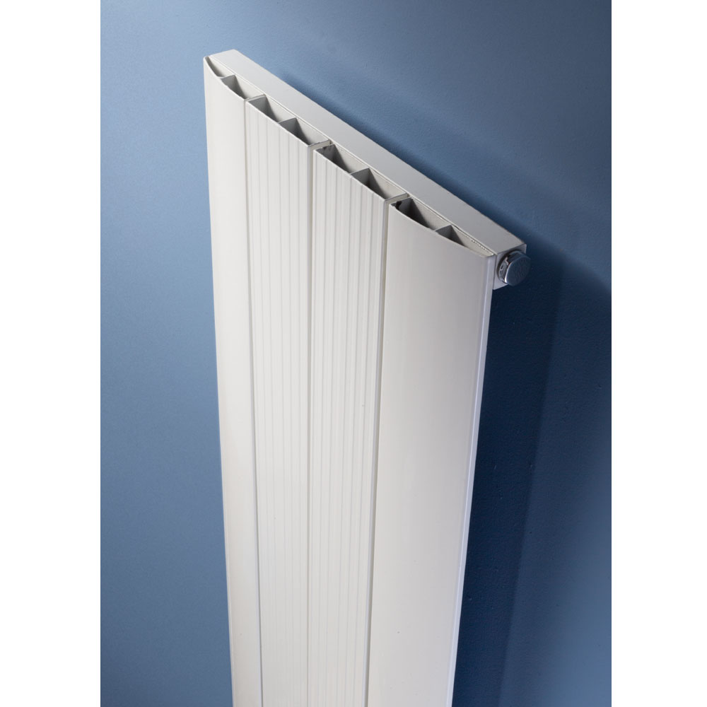 Hudson Reed Rapture Curved Designer Radiator 1800 x 375mm - White - HLW70 profile large image view 2