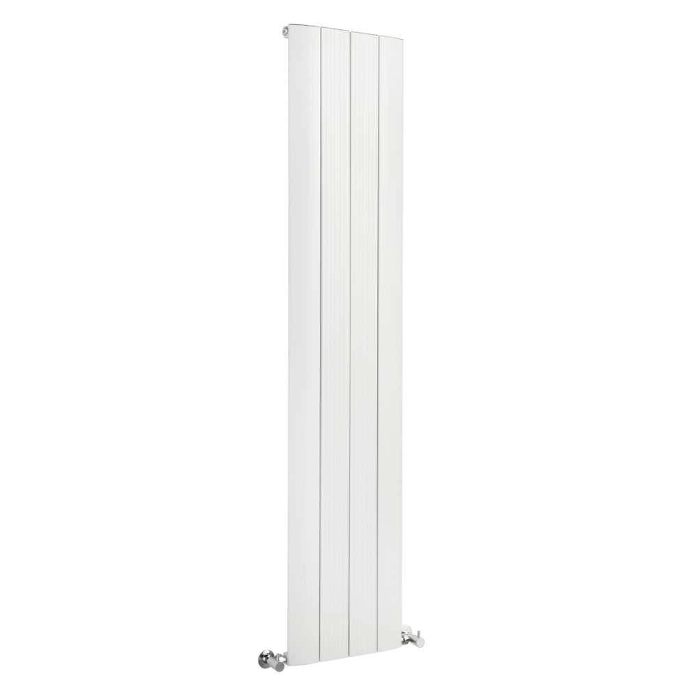 Hudson Reed Rapture Curved Designer Radiator 1800 x 375mm - White - HLW70 profile large image view 1